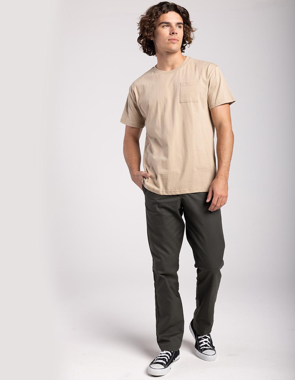 Image of DICKIES 850 SLIM TAPER FLEX OLIVE PANTS