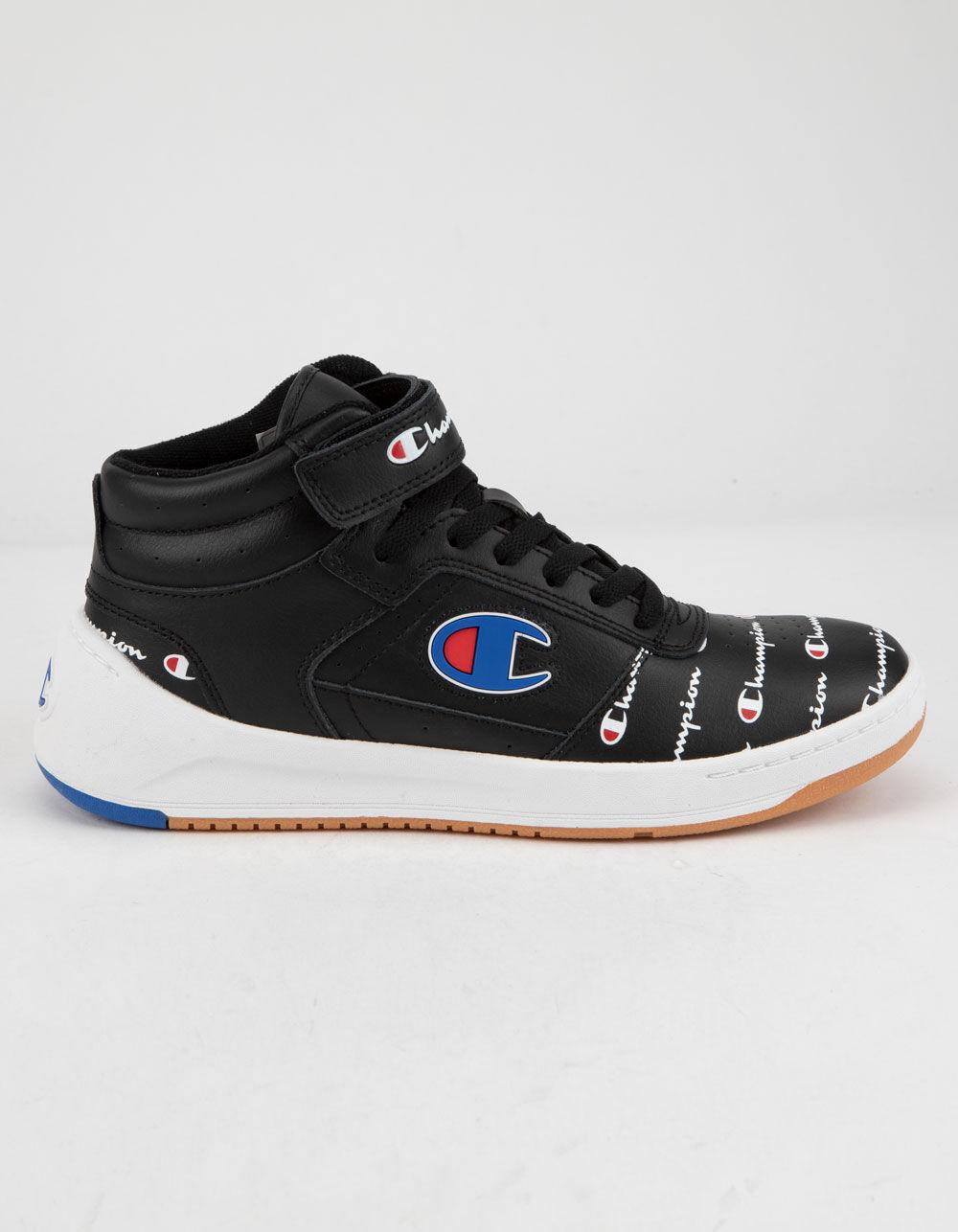 CHAMPION Super C Court Leather Print Black Shoes