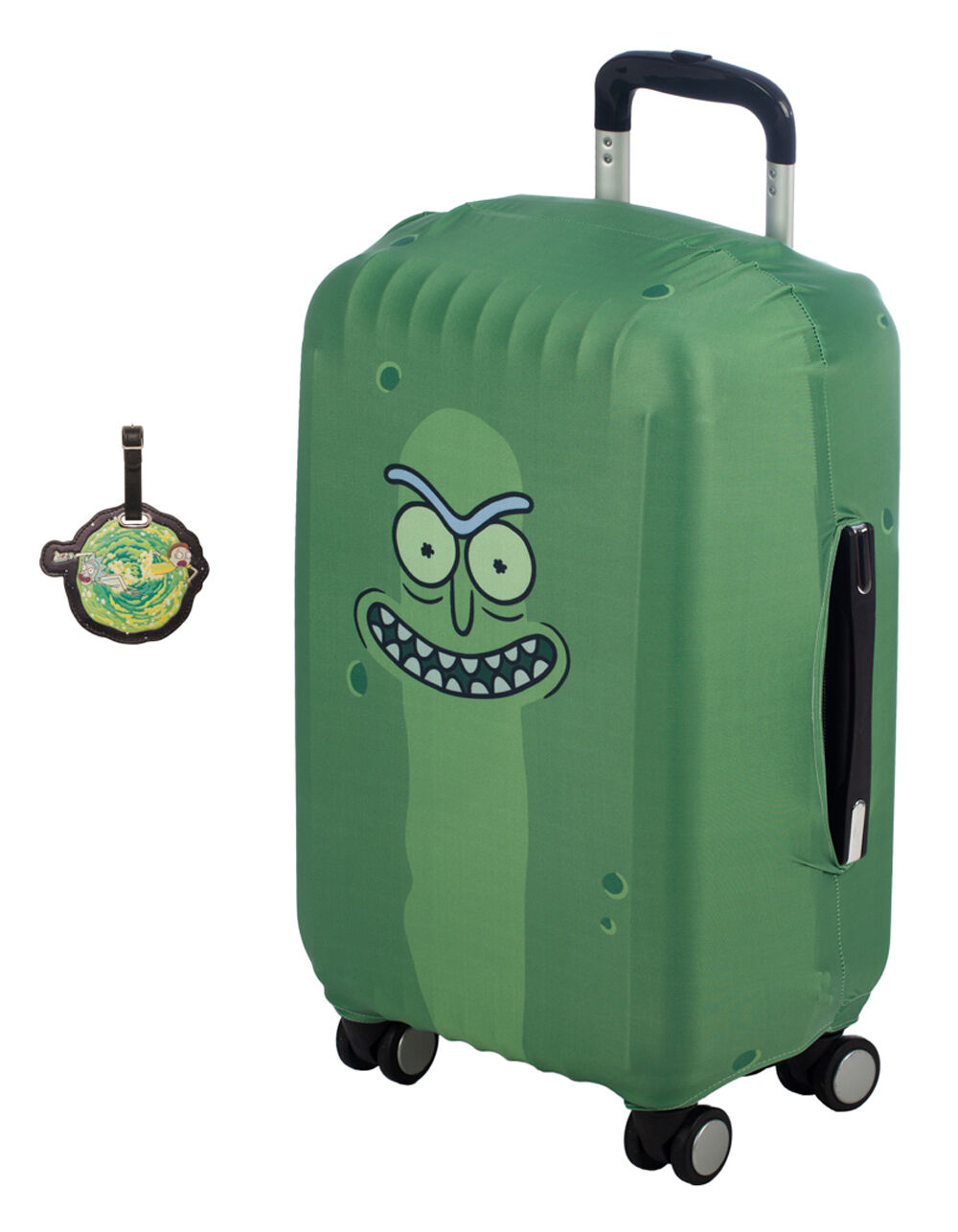 Rick And Morty Luggage Tag & Sleeve Travel Pack