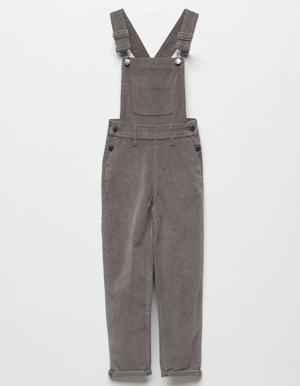 CELEBRITY PINK Gray Girls Corduroy Overalls