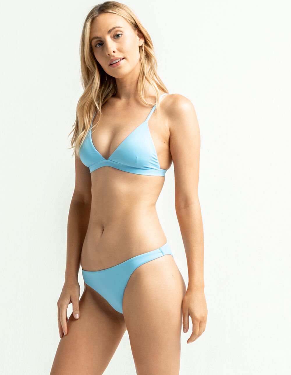 FULL TILT High Leg Cheeky Baby Blue Bikini Bottoms