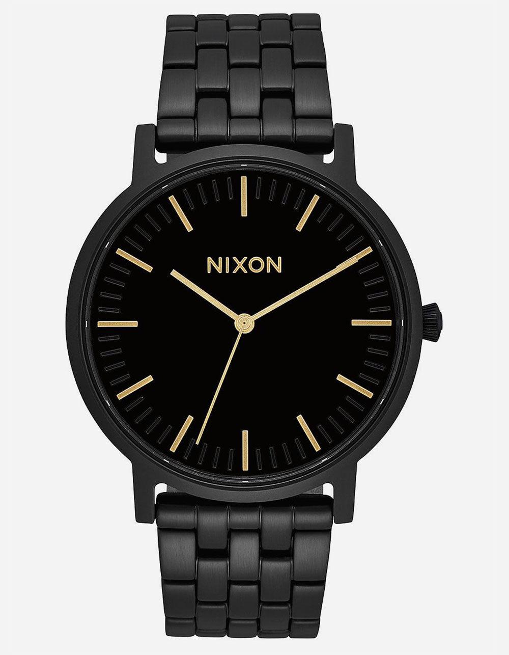 NIXON Porter Black & Gold Watch