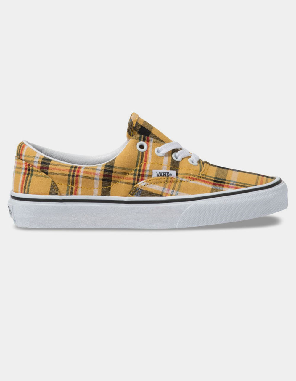 VANS Plaid Era Yellow & True White Shoes