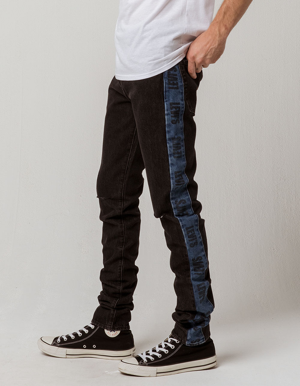 LEVI'S Lo-ball Stack Stripe Ripped Jeans