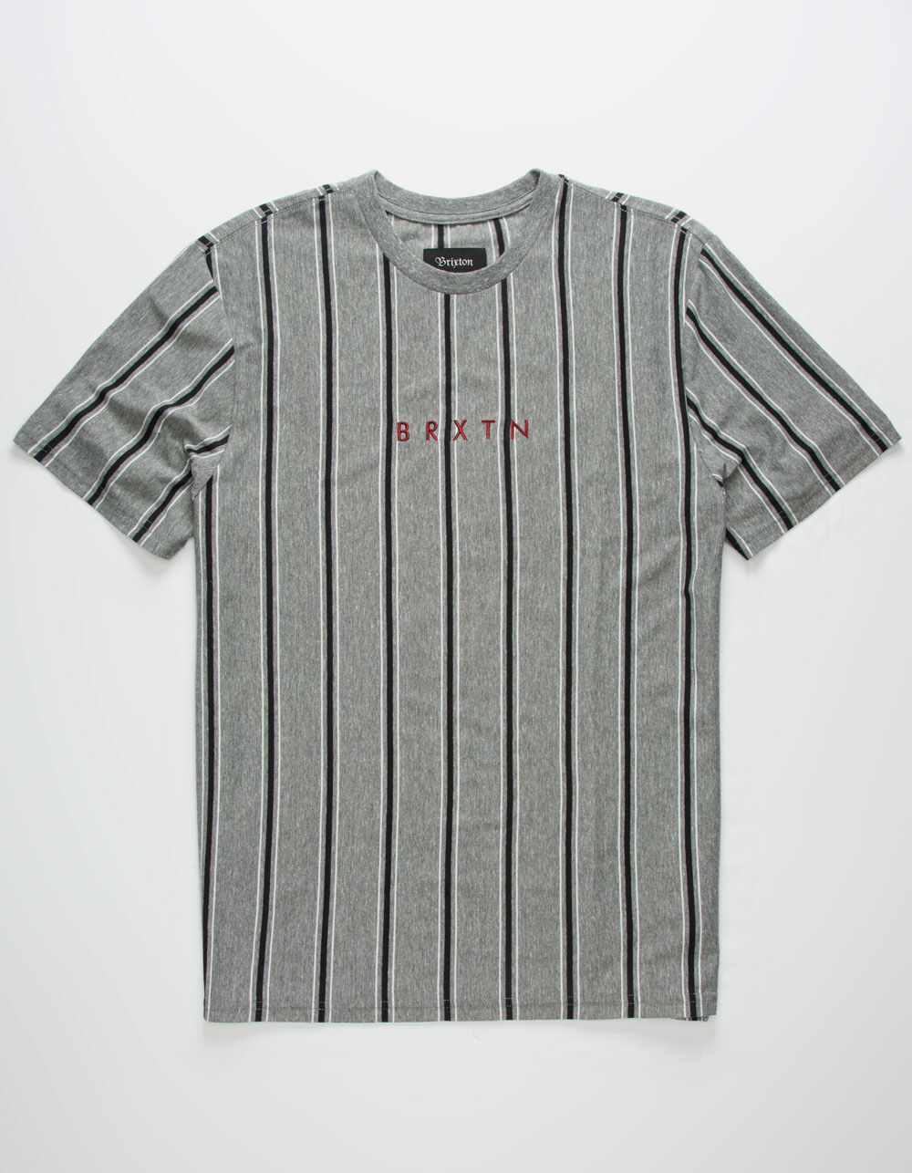 BRIXTON Hilt II Heather Black Stripe T-Shirt