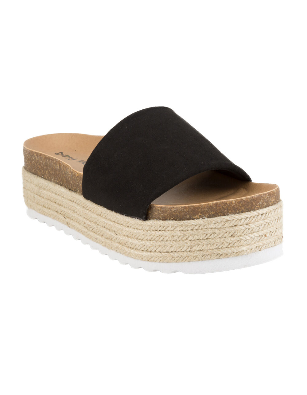 Image of DIRTY LAUNDRY PIPPA ESPADRILLE BLACK PLATFORM SANDALS