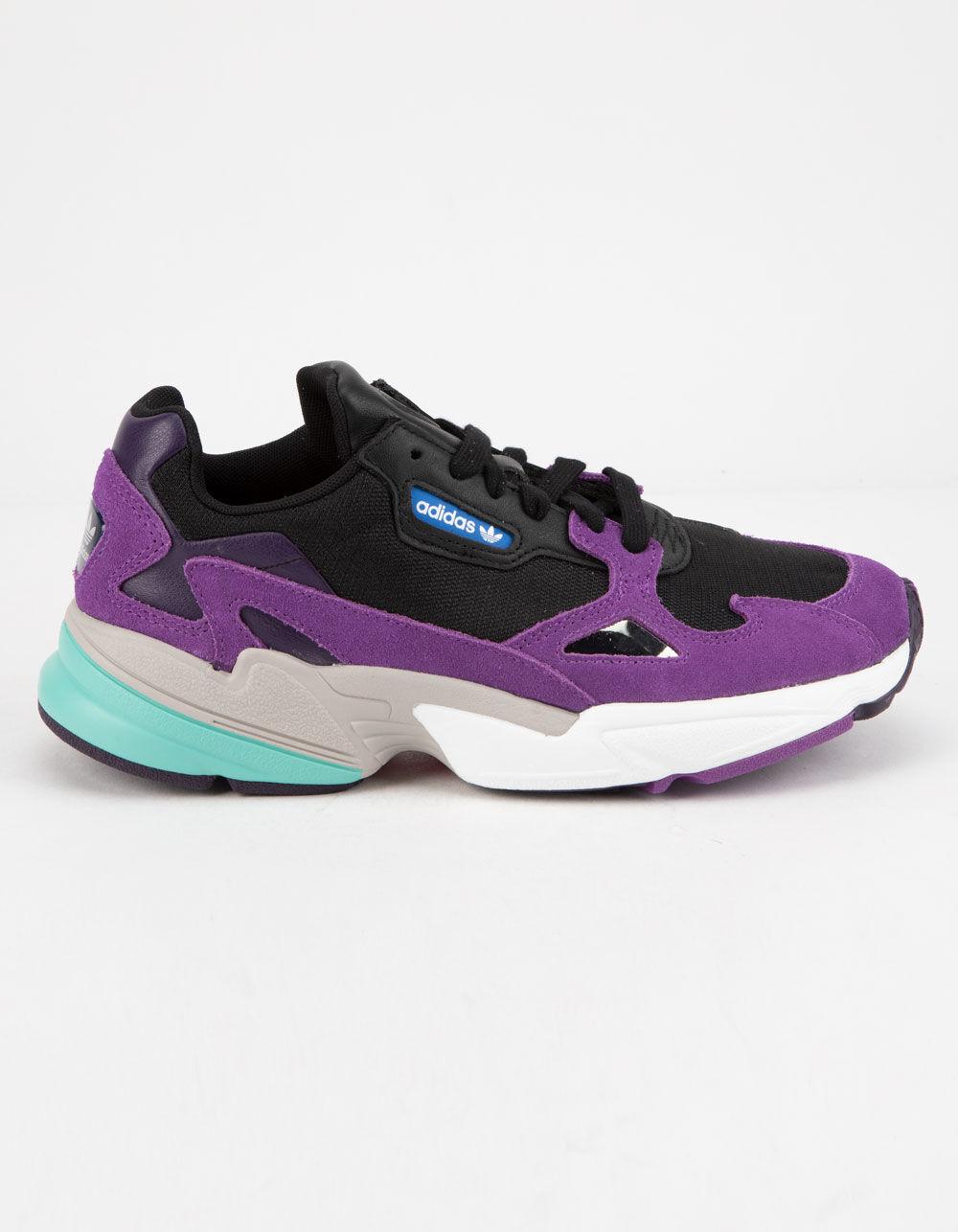 ADIDAS Falcon Core Black & Active Purple Shoes