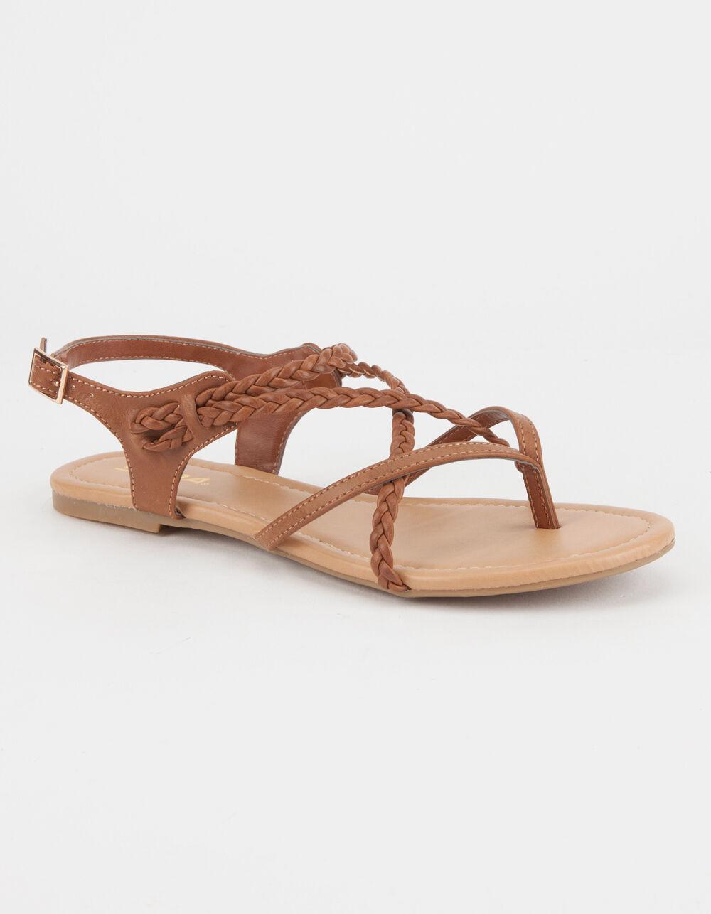 SODA Criss Cross Braided Sandals