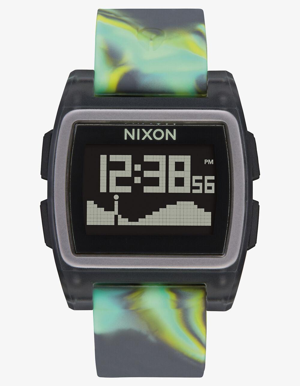 NIXON Base Tide Green Jellyfish Watch