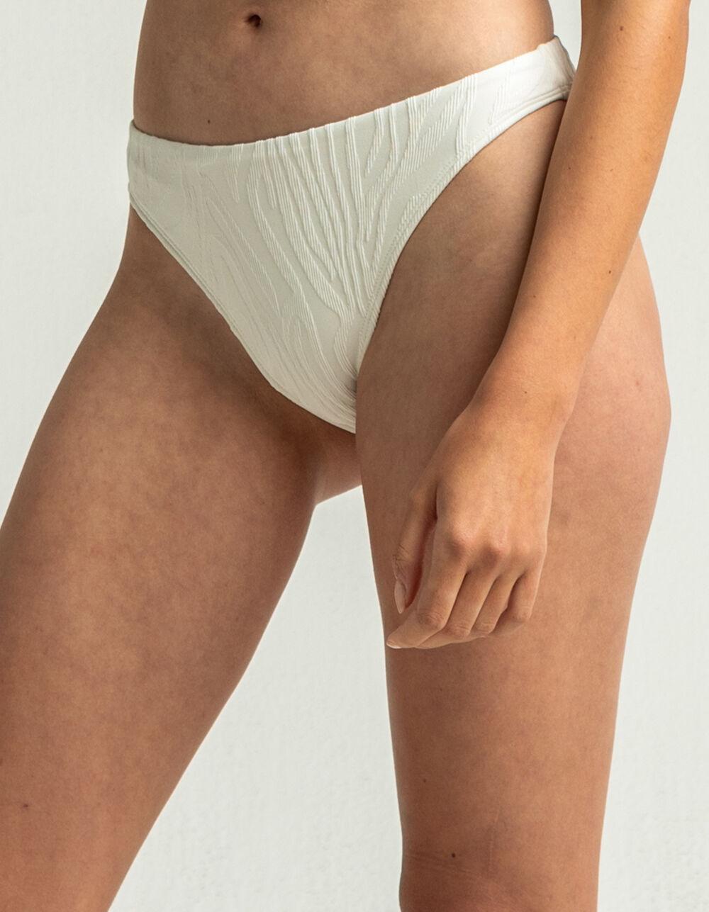 FULL TILT Textured High Waist Bikini Bottoms