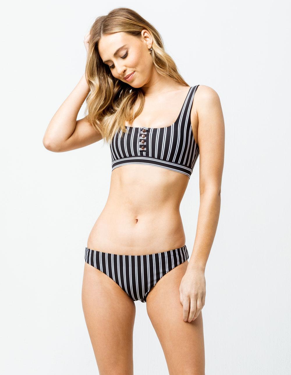 RAISINS Del Mar Stripe Hipster Bikini Bottoms