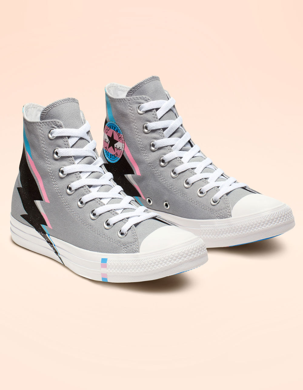 Image of CONVERSE CHUCK TAYLOR ALL STAR PRIDE WOLF GRAY HIGH TOP SHOES