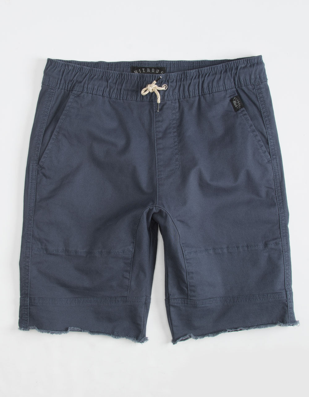 NITROUS BLACK Angle Navy Boys Jogger Shorts