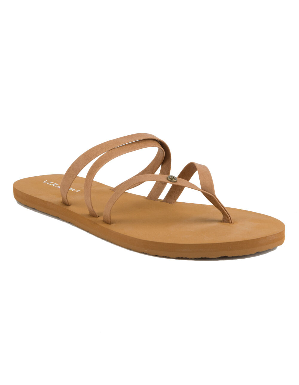 VOLCOM EASY BREEZY TAN SANDALS