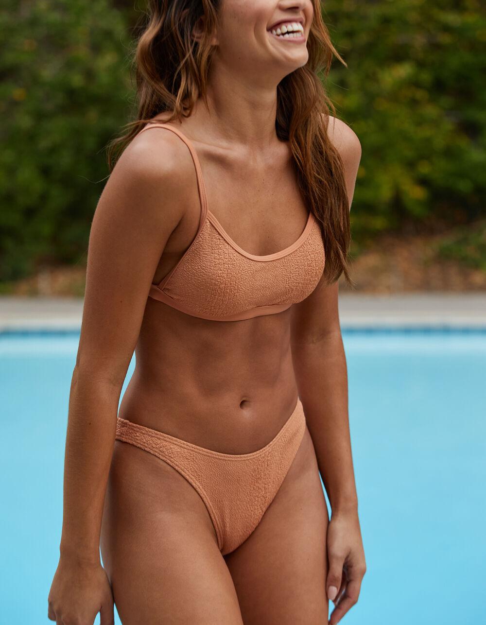 DAMSEL Butterscotch High Leg Bikini Bottoms