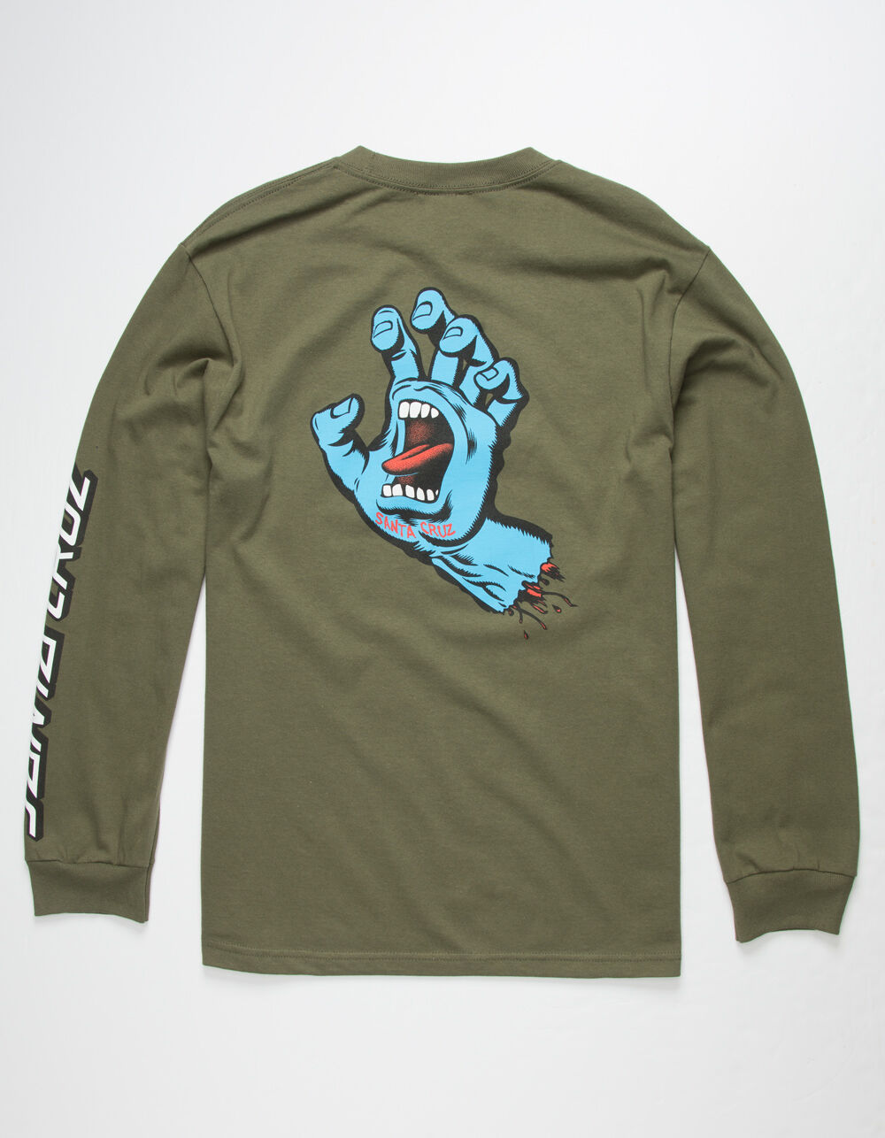 SANTA CRUZ Screaming Hand Military Green T-Shirt