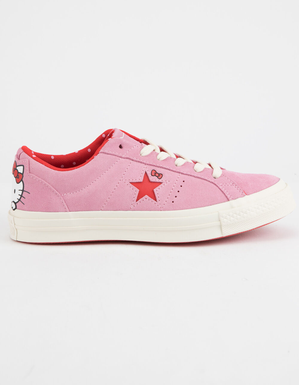 CONVERSE x Hello Kitty One Star Prism Pink & Firey Red Shoes