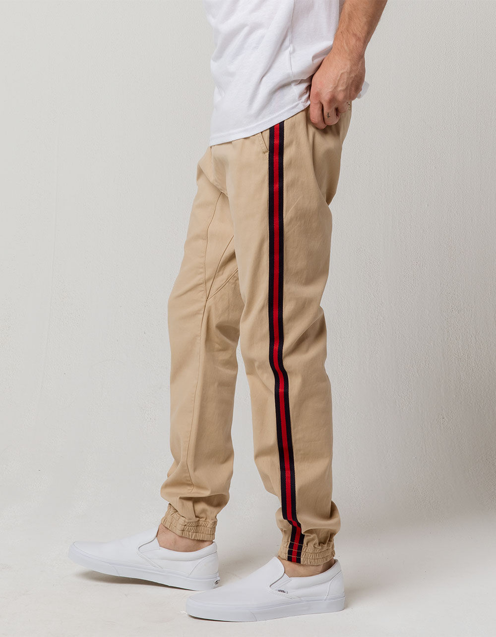 Image of BROOKLYN CLOTH SIDE TAPING JOGGER PANTS