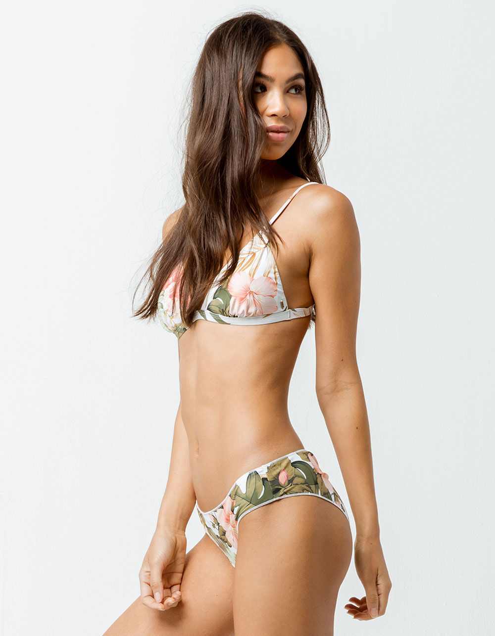 RIP CURL Hanalei Bay White Hipster Bikini Bottoms