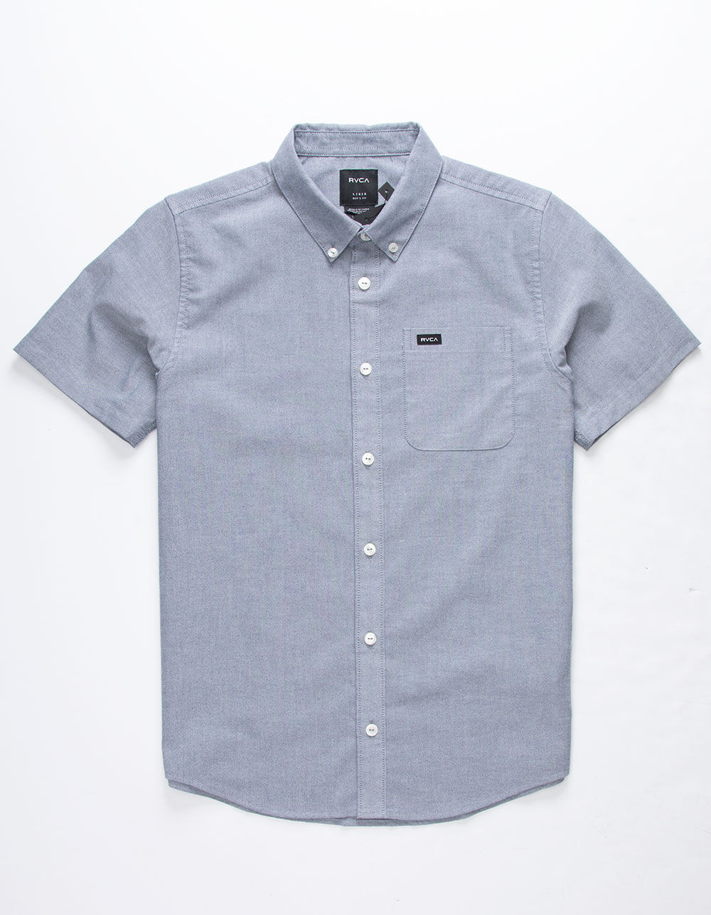RVCA That'll Do Stretch Light Blue Boys Shirt