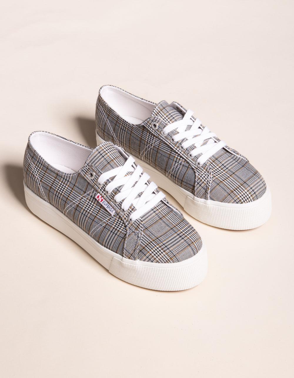 SUPERGA 2790 Plaid Platform Shoes