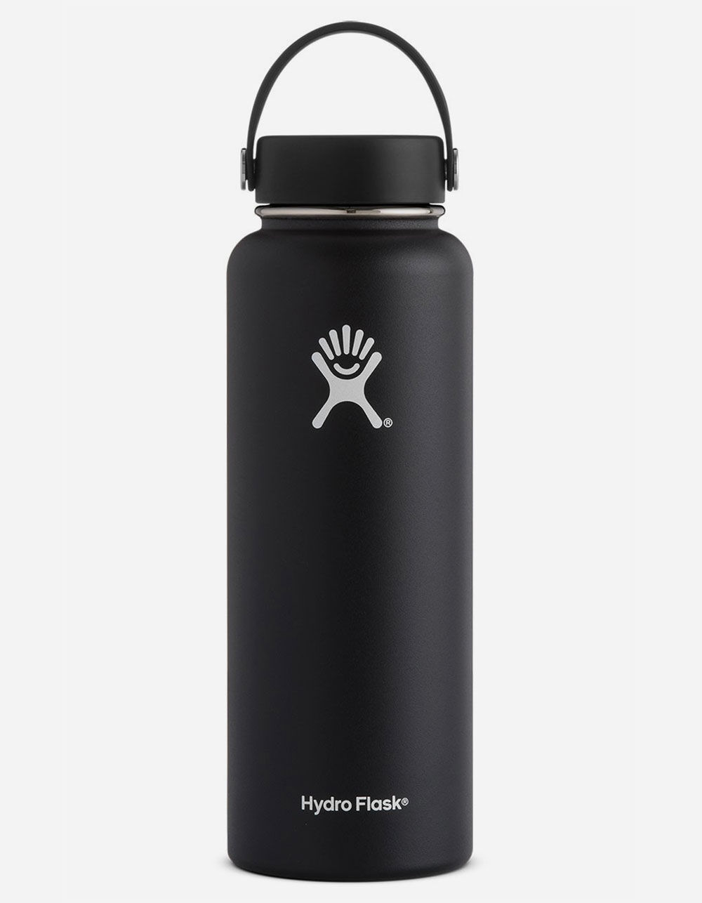 HYDRO FLASK Black 40oz Wide Mouth Water Bottle