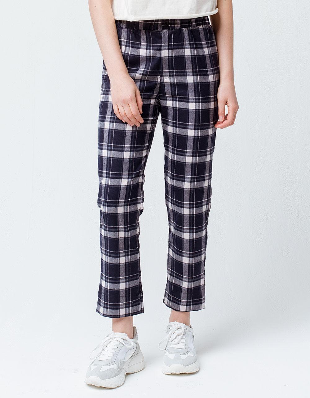 SKY AND SPARROW Plaid Crop Trouser Pants