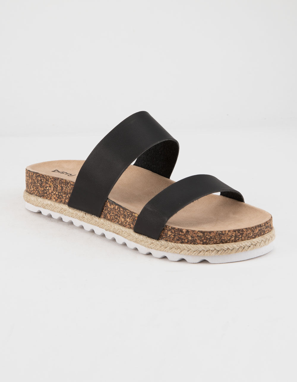 Image of DIRTY LAUNDRY DOUBLE PLAY BLACK ESPADRILLE FLATFORM SANDALS