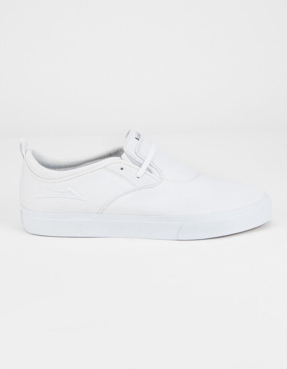 LAKAI Riley Hawk 2 White Canvas Shoes