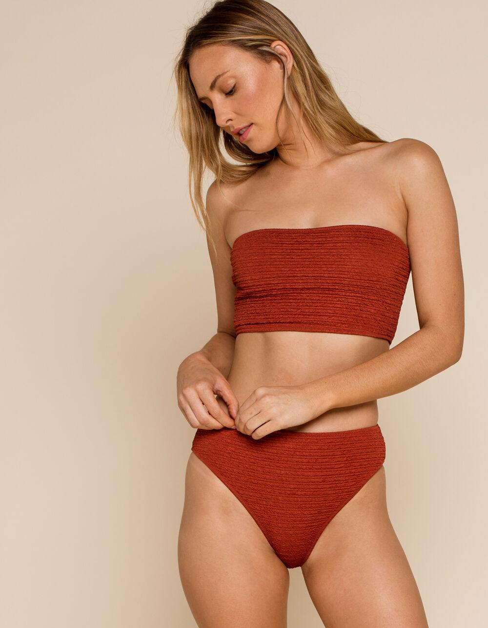WEST OF MELROSE Heat Wave High Waist Bikini Bottoms