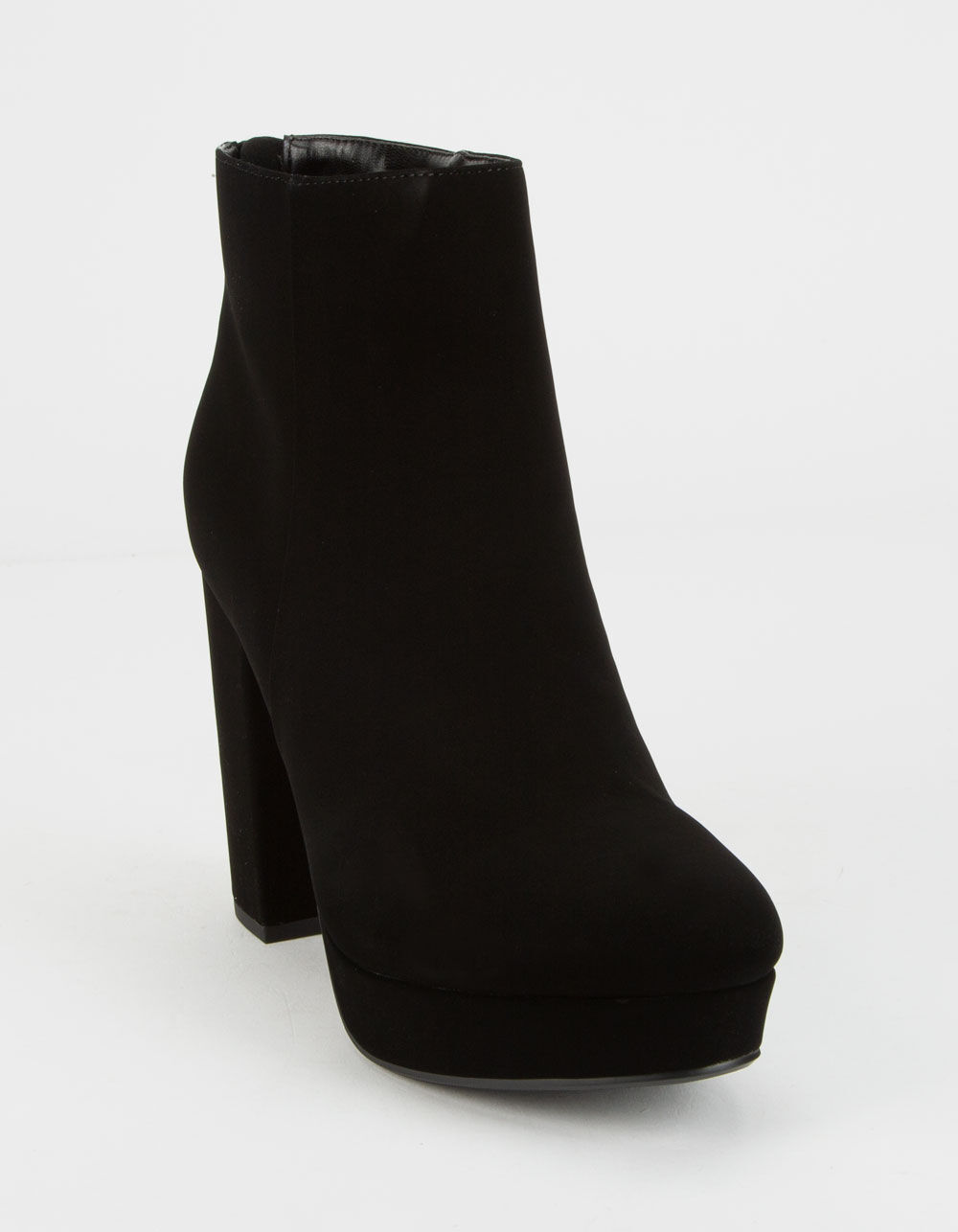 DELICIOUS Faux Suede Ankle High Heel Boot