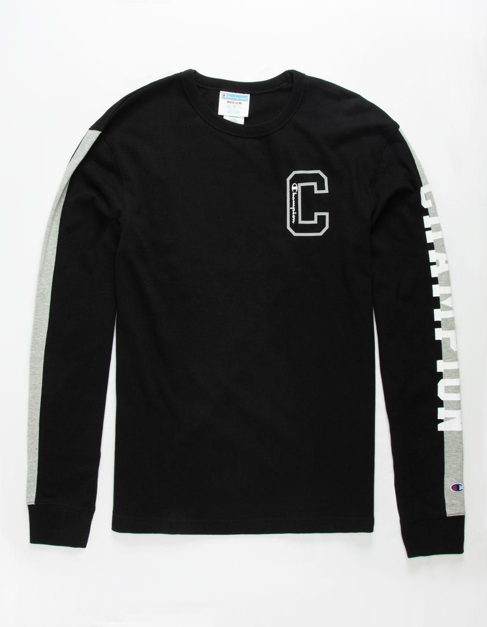 CHAMPION Block C Black T-Shirt
