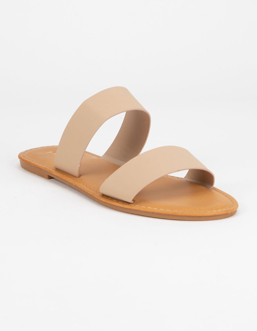 Image of BAMBOO DOUBLE STRAP NUDE SANDALS