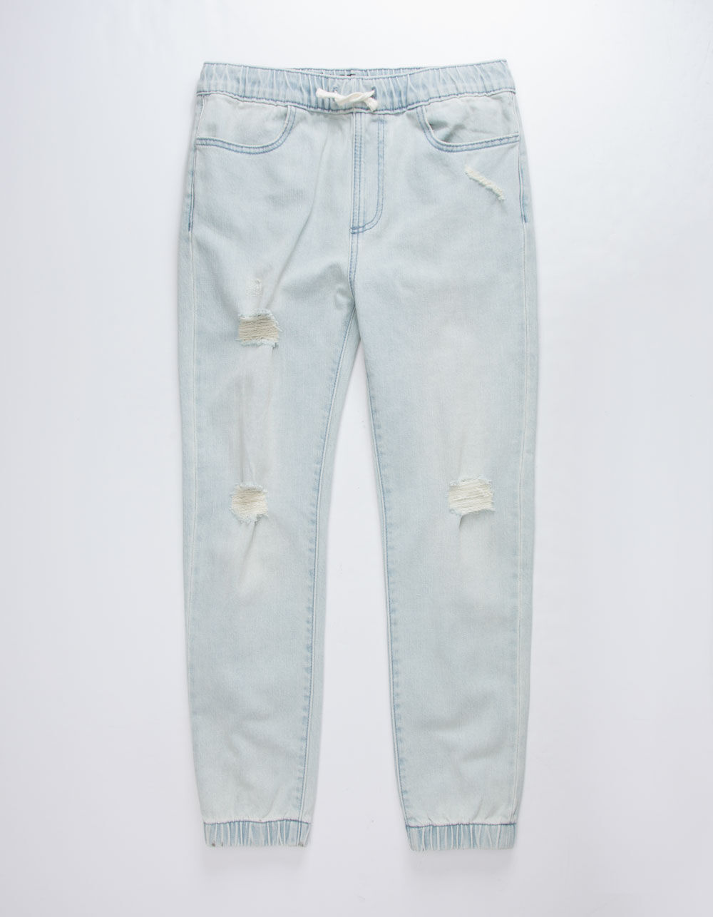 Image of EAST POINTE DAMIEN DENIM BOYS RIPPED JOGGER PANTS