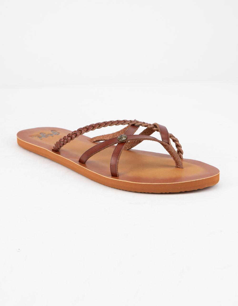 GIGI Criss Cross Cognac Sandals