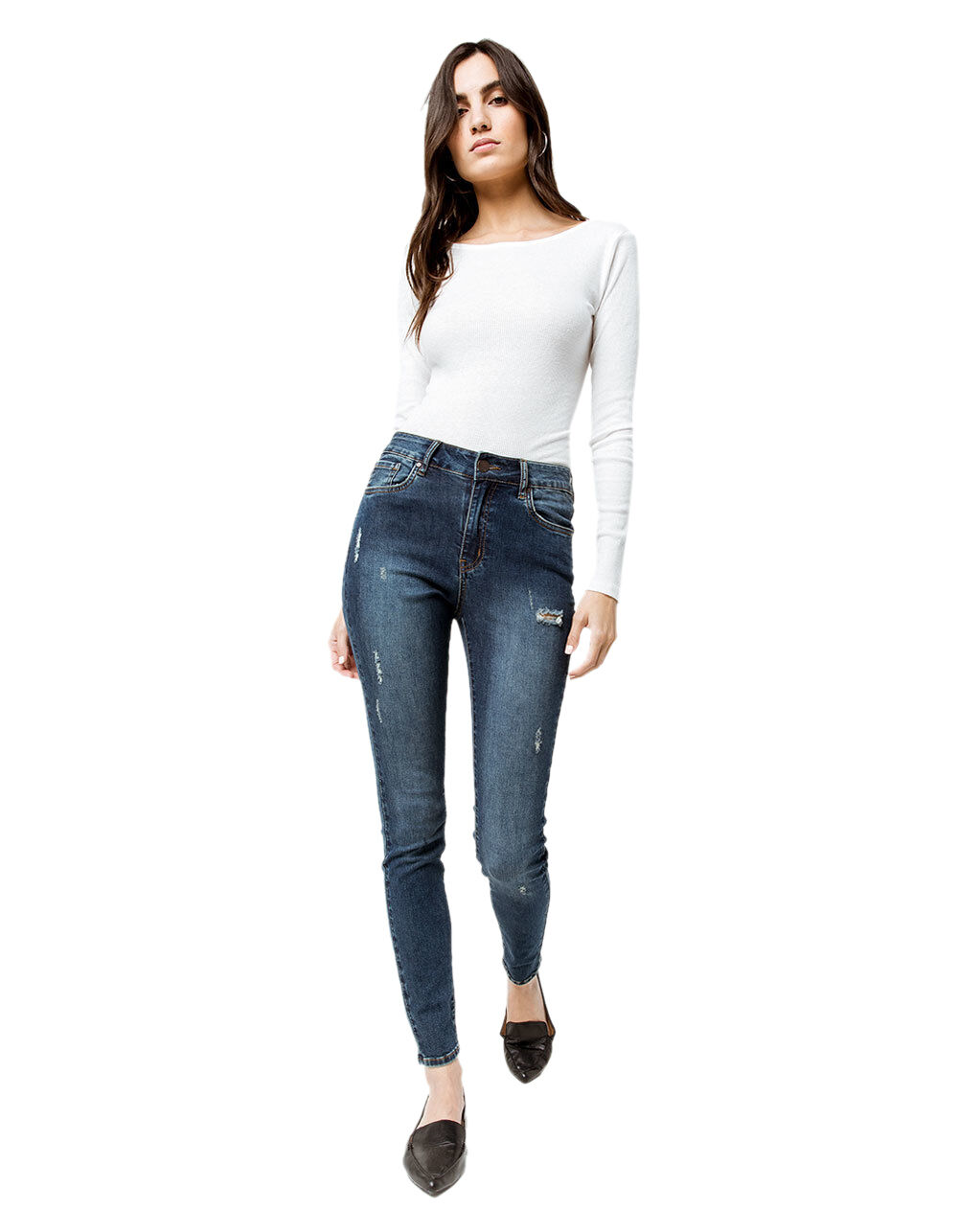 RSQ MANHATTAN HIGH RISE RIPPED SKINNY JEANS