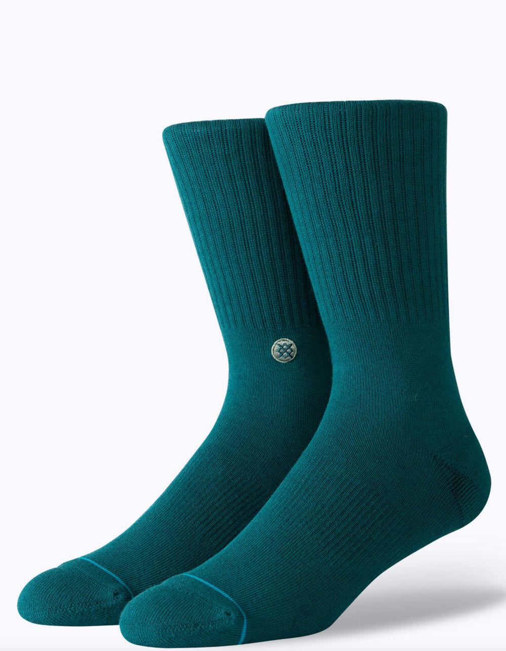 STANCE Icon Green Crew Socks