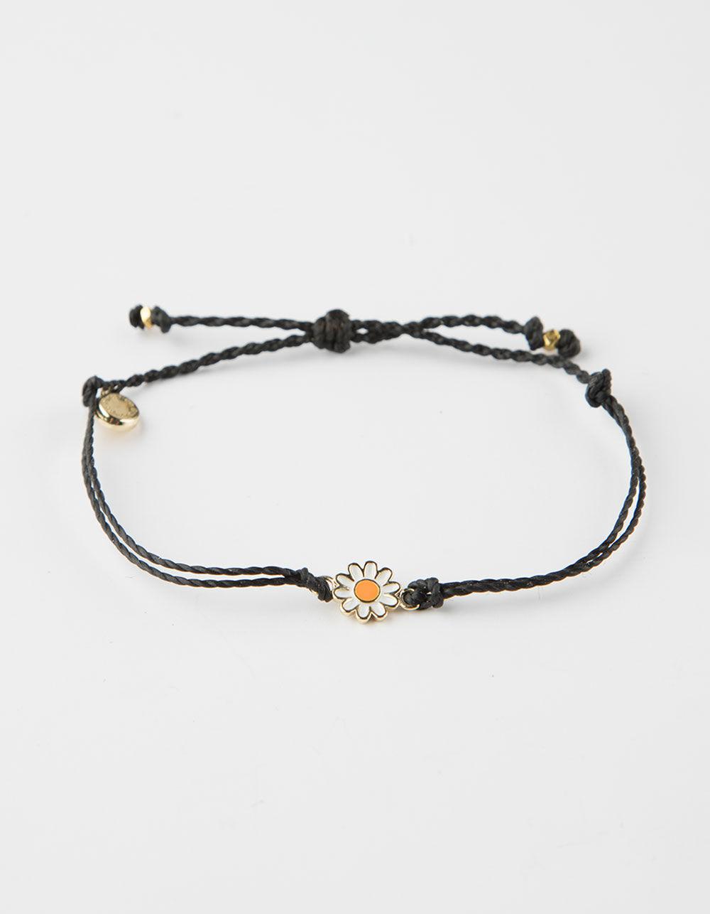 PURA VIDA Daisy Black Bracelet