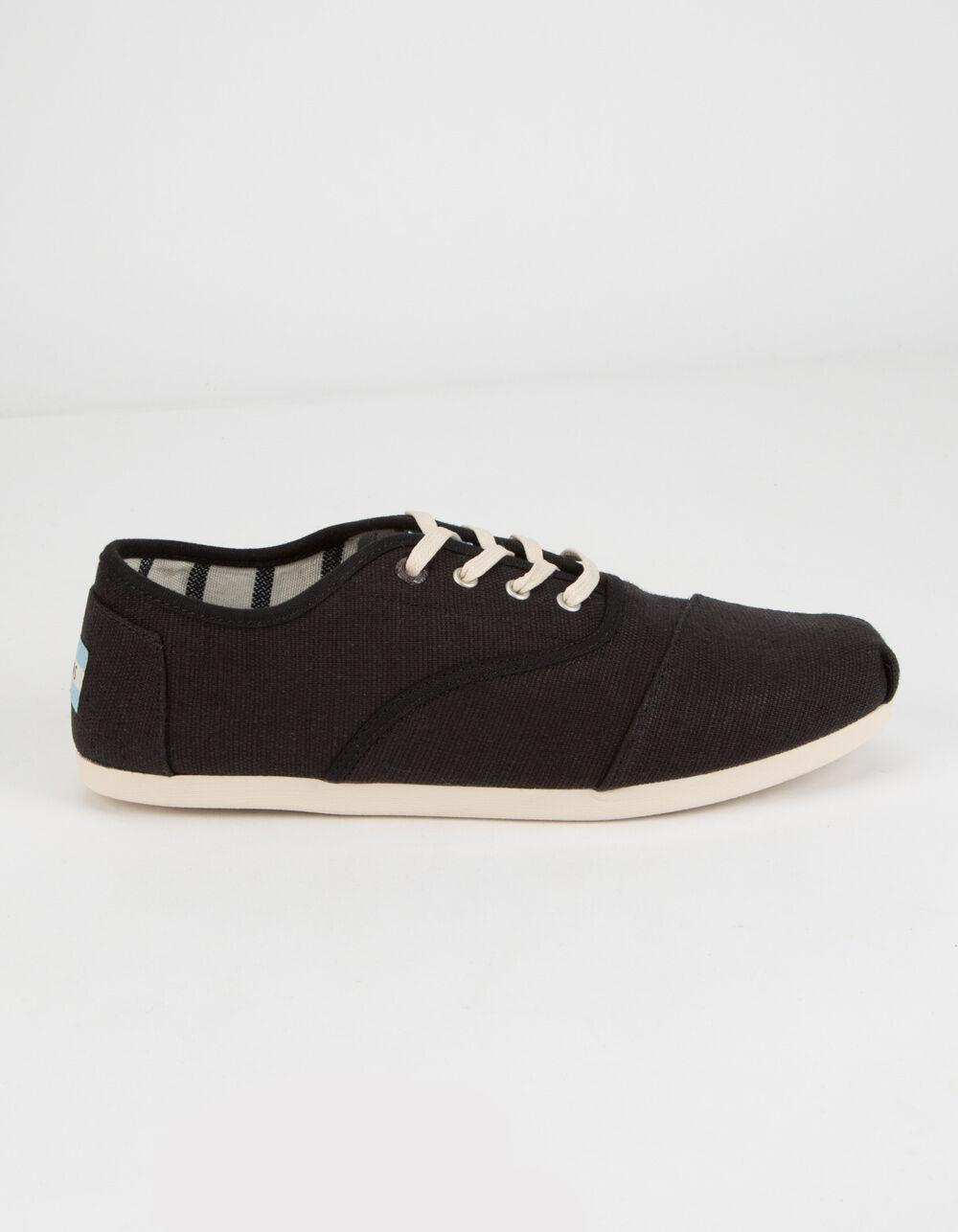TOMS Cardones Black Heritage Canvas Shoes