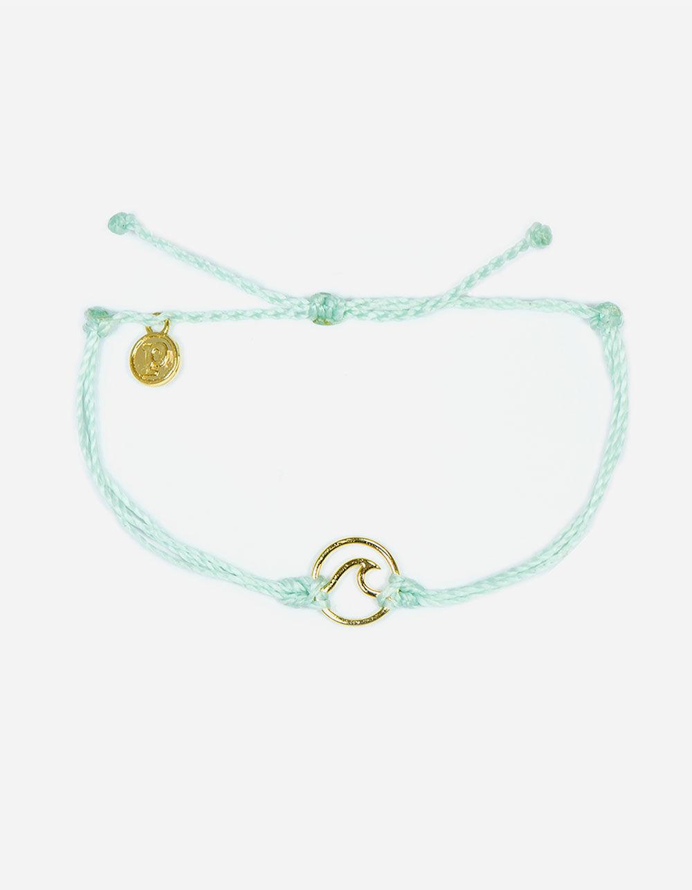 PURA VIDA Wave Seafoam & Gold Bracelet