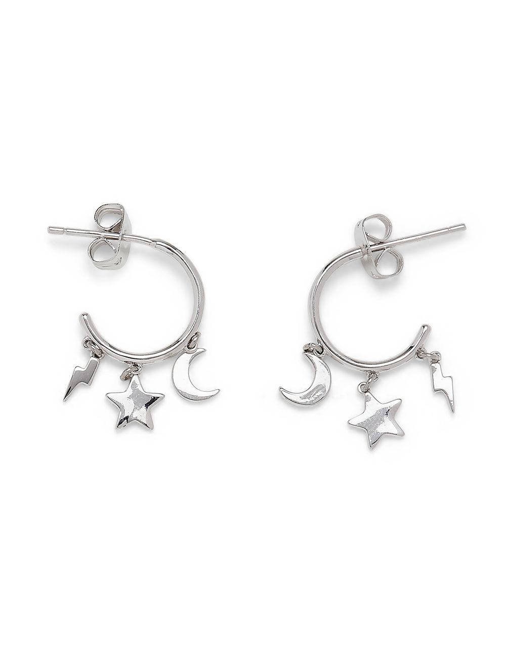 PURA VIDA Celestial Charms Huggie Hoop Earrings
