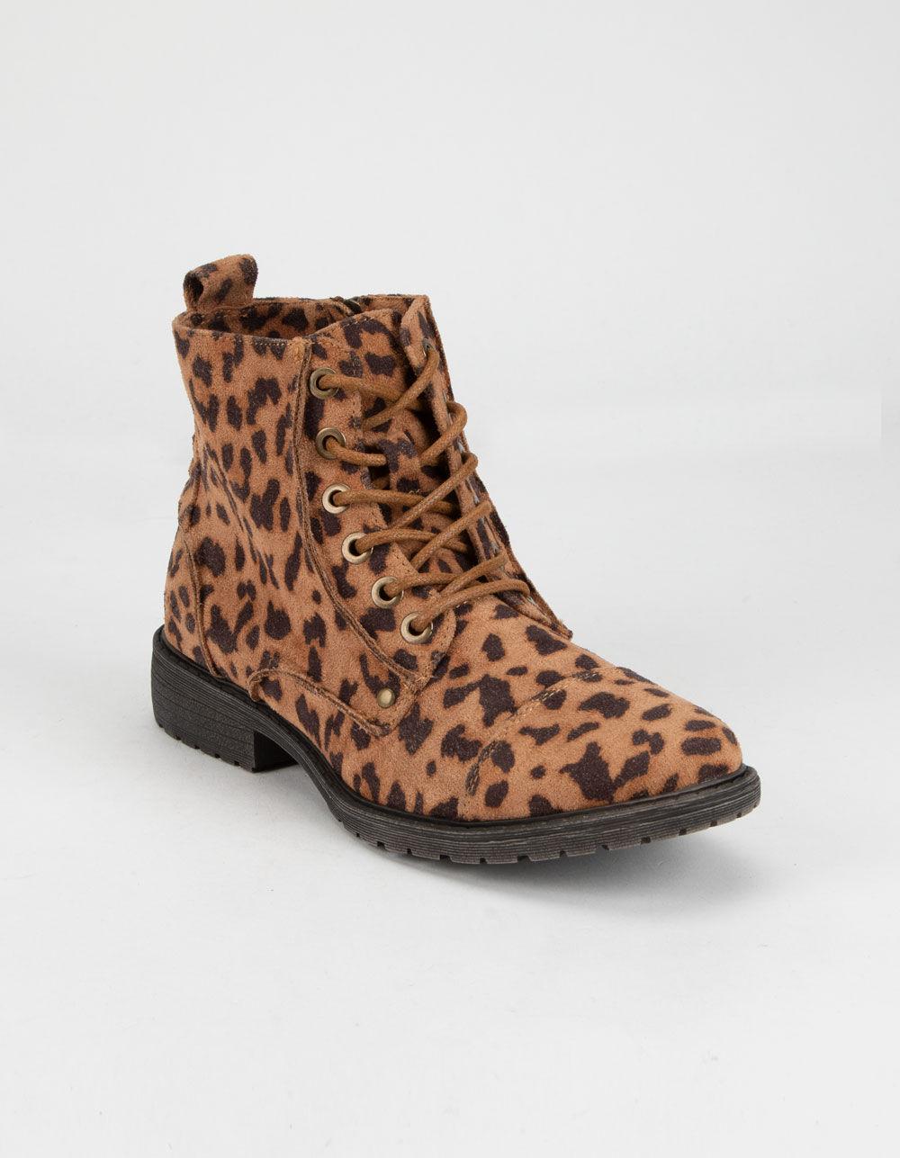 BILLABONG Willow Way Leopard Combat Boots