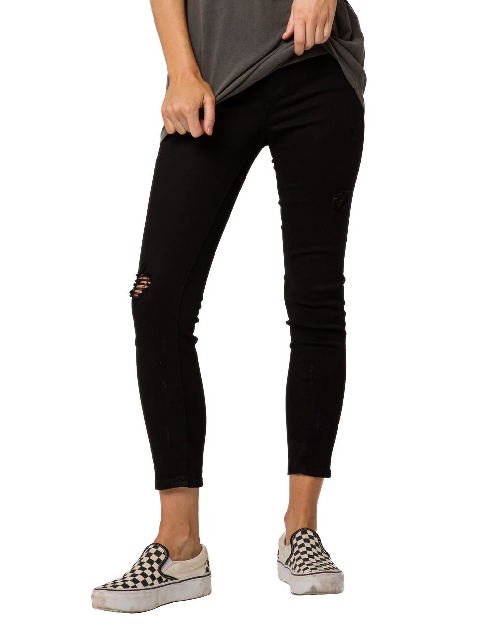 RSQ CALI HIGH RISE ANKLE RIPPED SKINNY JEANS