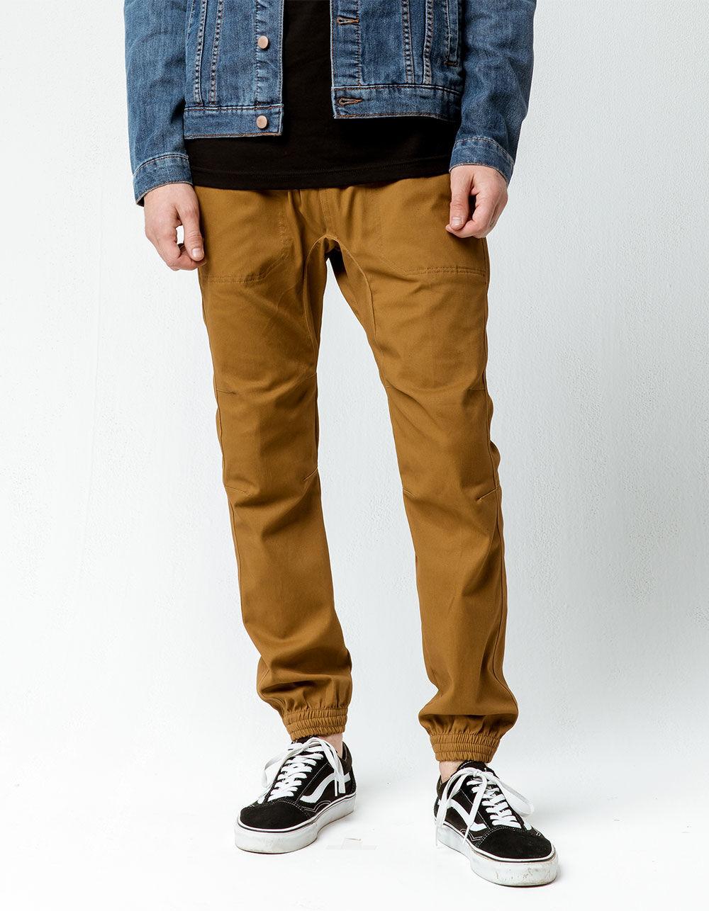 Image of BROOKLYN CLOTH TWILL PORK CHOP POCKET JOGGER PANTS