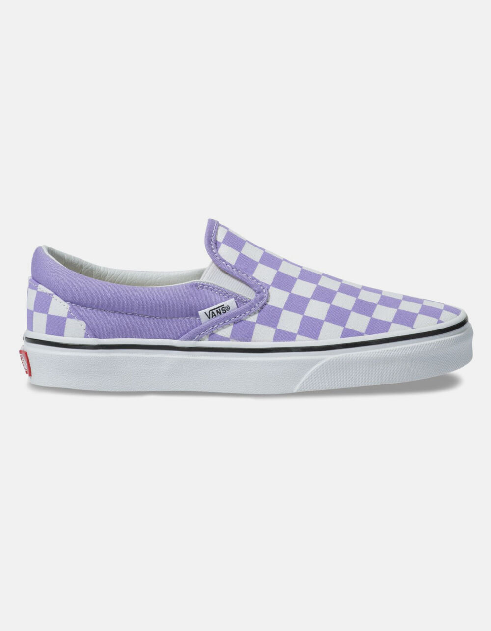 VANS Checkerboard Classic Slip-On Violet Tulip & True White Shoes