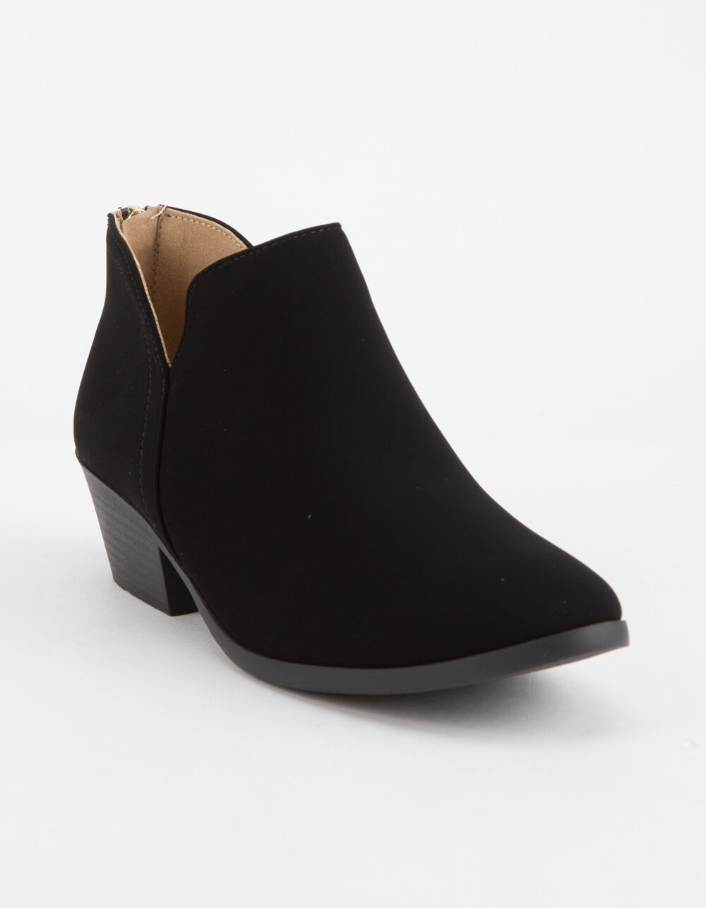 SODA Chop Out Low Black Booties