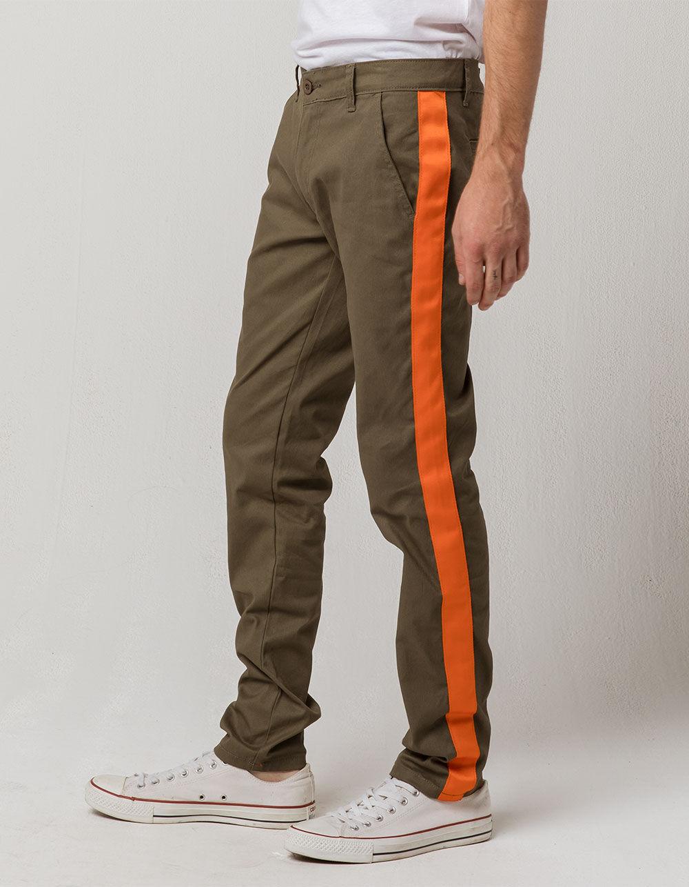 UNCLE RALPH Side Strip Olive Pants