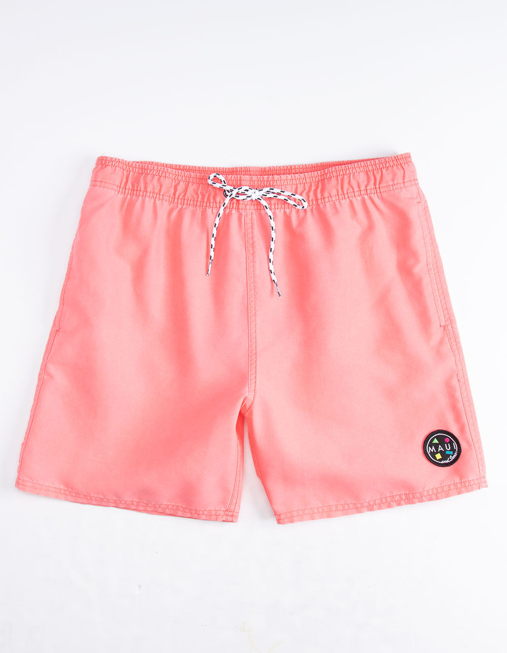 MAUI AND SONS Party On Coral Volley Shorts