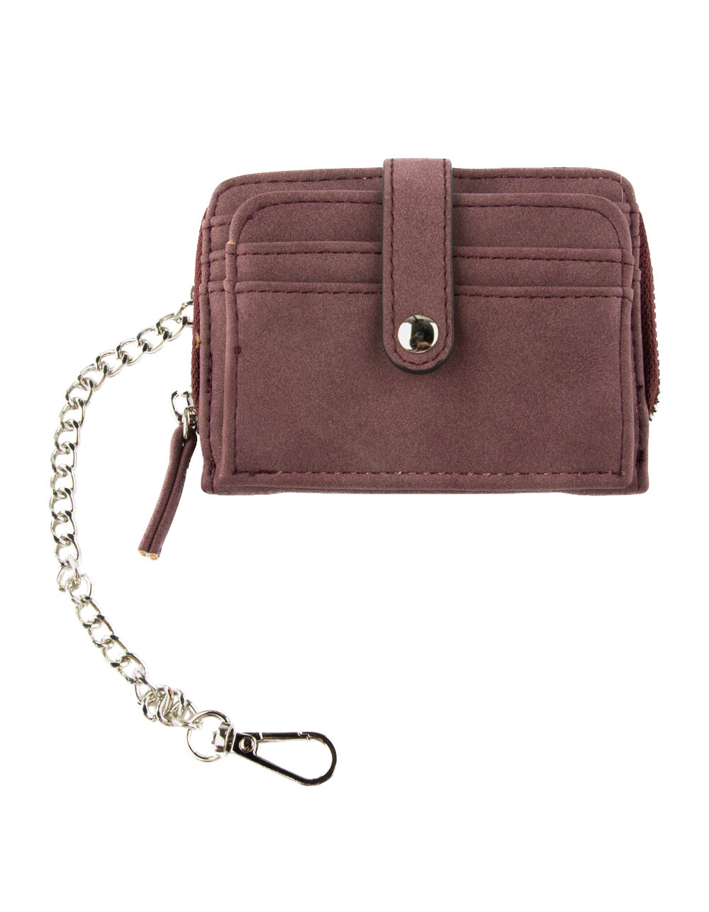 VIOLET RAY ZIP AROUND BURGUNDY WALLET