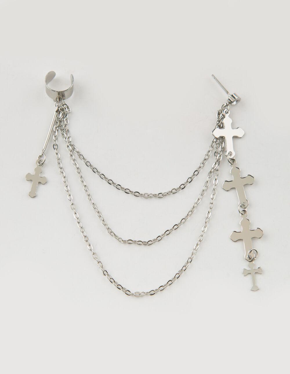 FULL TILT Cross & Chain Earring Cuff